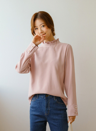 Anne's Frill-neck Blouse