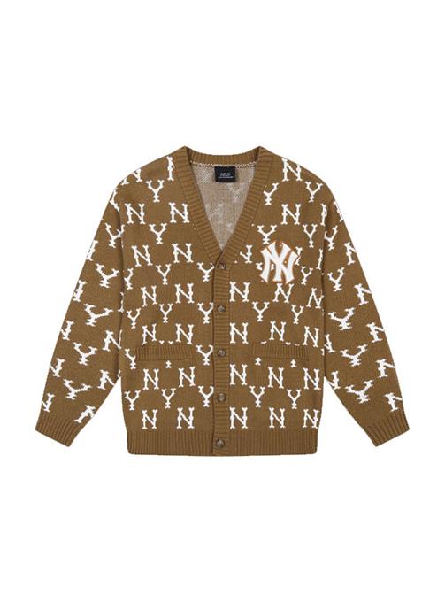 Monogram Allover Knit Cardigan NY (31KTM1041-50B)