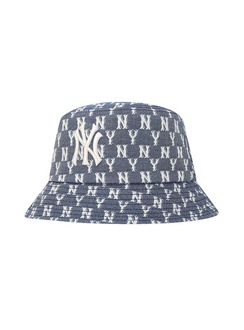 Monogram Blue Jacard Bucket Hat (32CPHV011-50N)