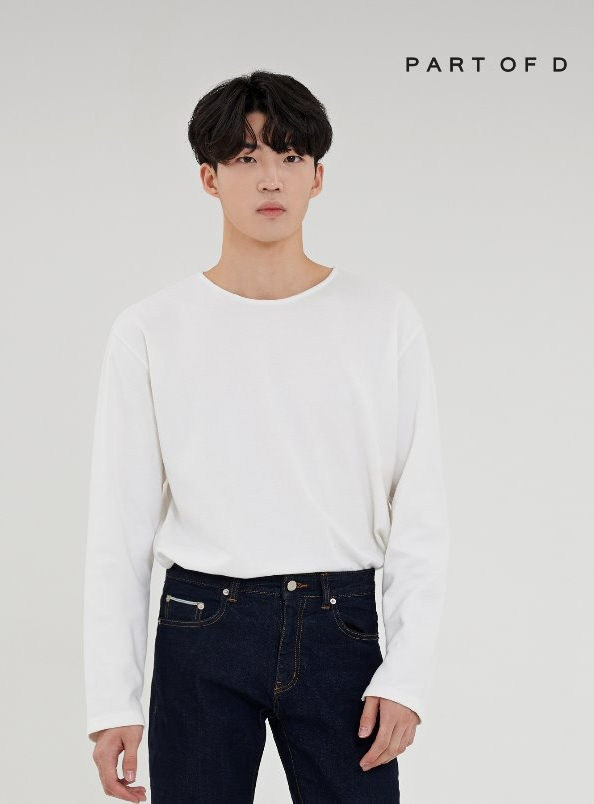 PART 001 essential long sleeve tee (white)