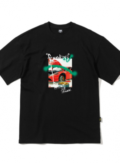 RDVZ SUPERCAR PHOTO T-SHIRT BLACK