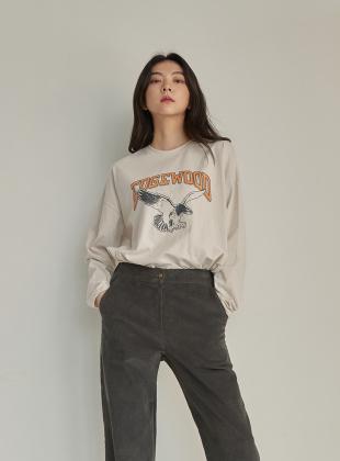 Eagle Print Slit T-shirt