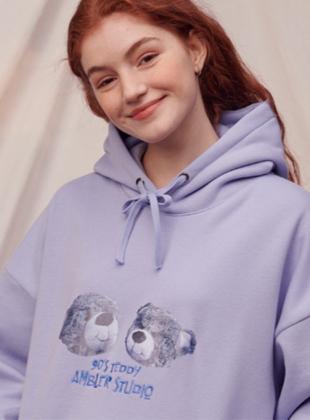 Ambler Twin Bear Overfit Hoodie (AHP714_BLUE)