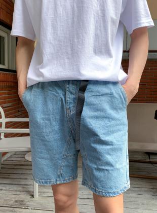 Unic Belted Denim Shorts