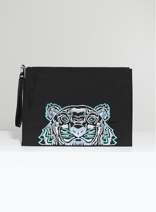 Iconic Tiger Embroidery Clutch (FA6 5PM322 F20 99E)
