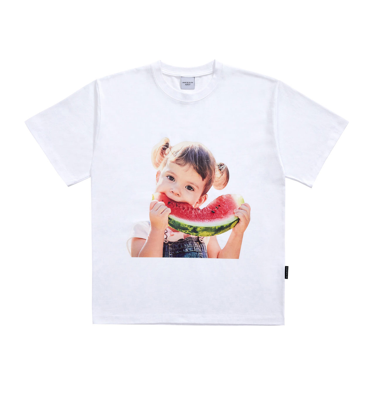 ADLV BABY FACE SHORT SLEEVE T-SHIRT WHITE WATERMELON