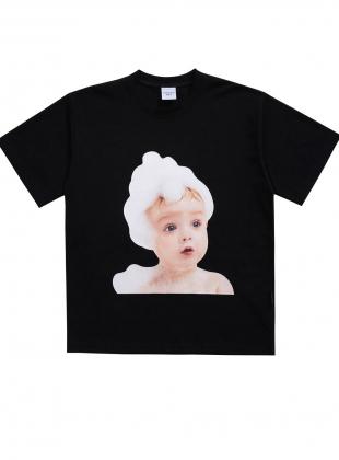 ADLV BABY FACE SHORT SLEEVE T-SHIRT BLACK BUBBLE