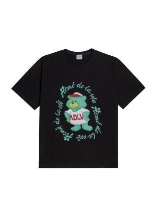 GREEN BEAR SHORT SLEEVE T-SHIRT BLACK