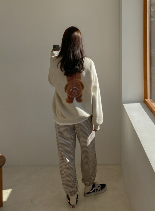 Bear Back Printing Sweatshirt