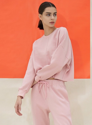 Kuanku Daily Training Sweatshirt DEVI-T0052-milk pink