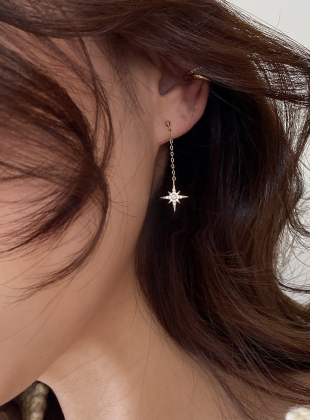 [Mubae] Twinkle Starlight Sparkling Star Drop Earrings
