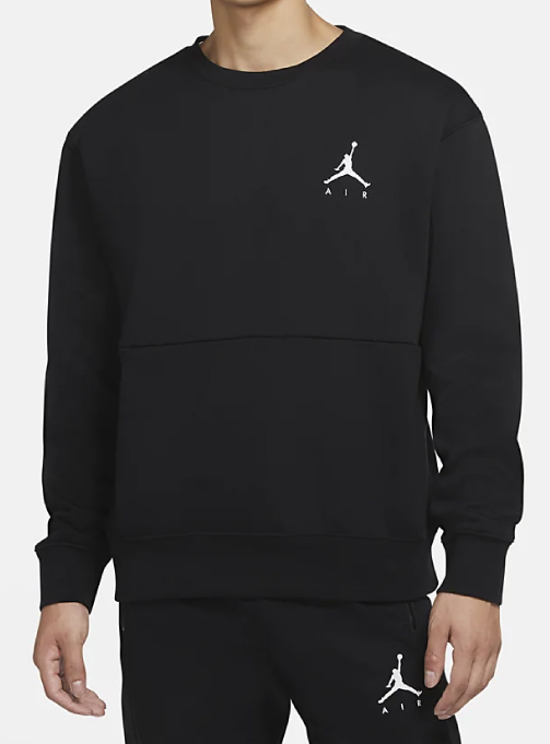 Jumpman Air Fleece Crew Top (CT3456-011)
