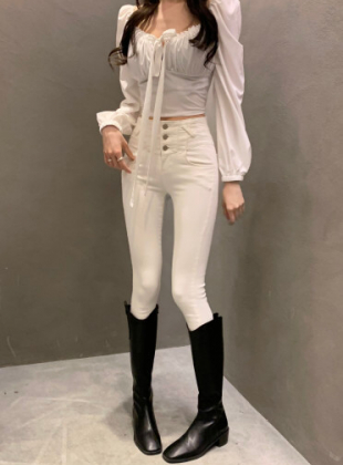 Semi High Waist Skinny Jeans