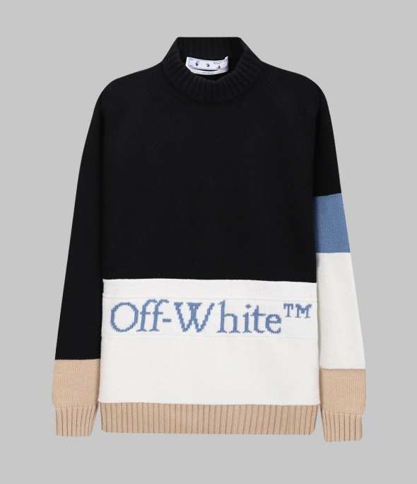 ColorBlock Lettering Knit (OMHE048R21KNI0011040)