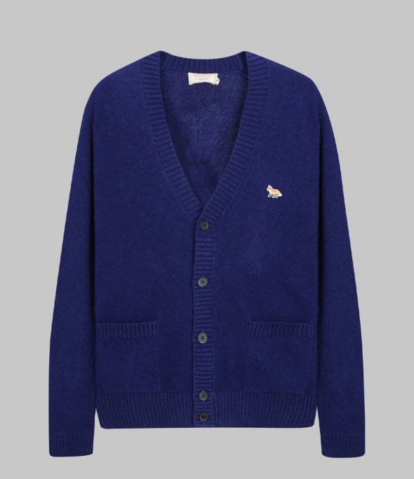 LAMBSWOOL CARDIGAN PROFILE FOX PATCH (FM00504KT1014-DN)