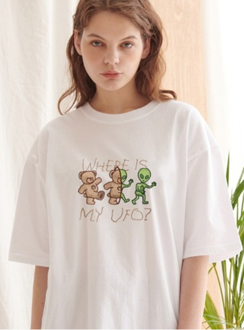 Where is my UFO T-shirt (AS802_WHITE)