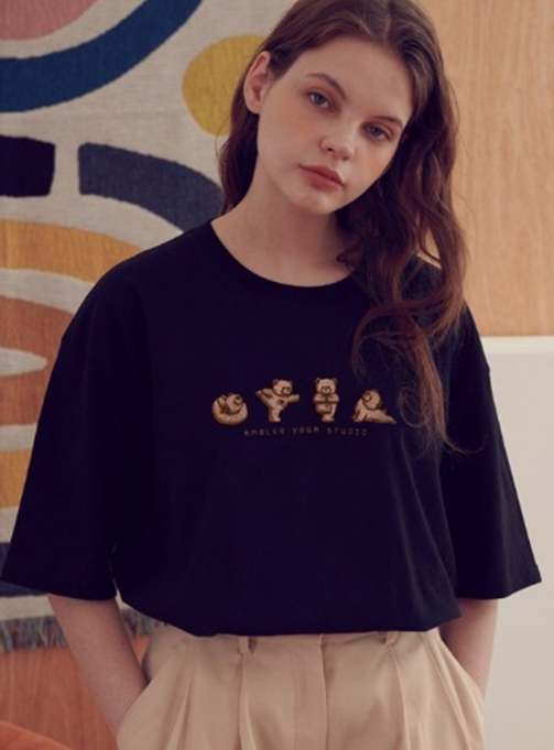 Yoga Teddy T-shirt (AS803_BLACK)