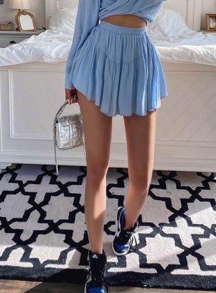 Soft Banding Mini Skirt [Pants Lining]