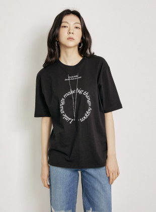 Necklace Short Sleeve T-shirt