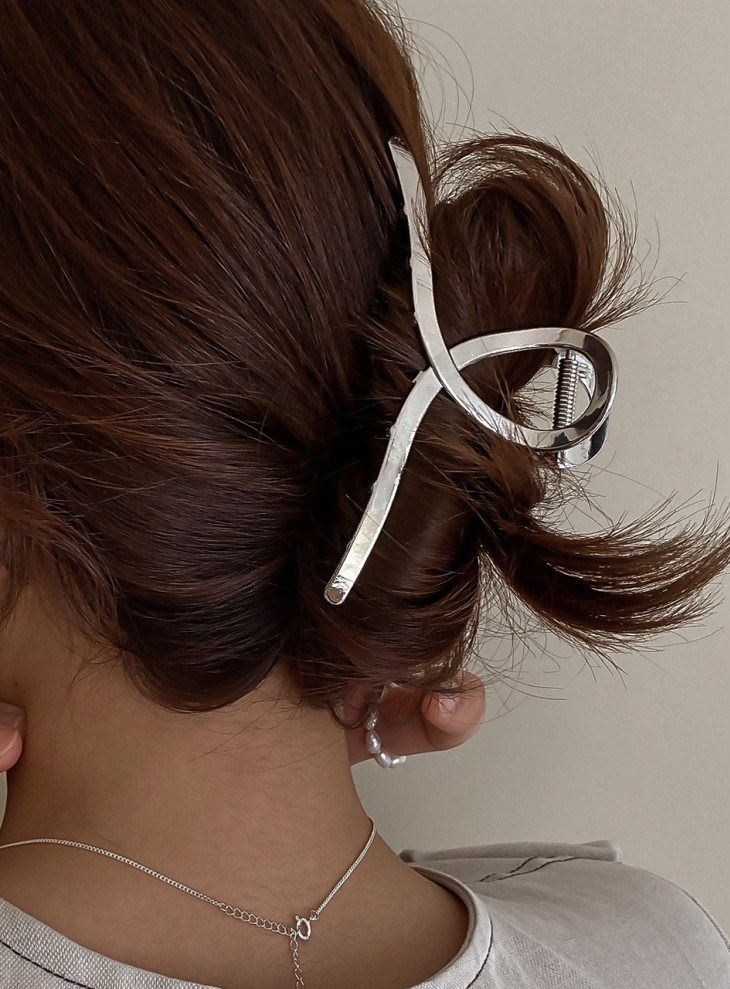 [4colors] Glossy Matte Twilly Twisted Hair Clips Up Hair Clips