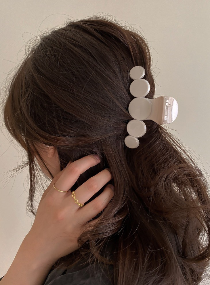[5colors] Bongbong Drop Drop Hair Half Bundle Hair Clip