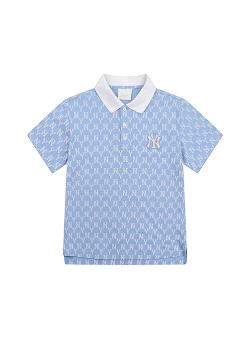 Monogram Allover Collar Short Sleeve T-shirt New York Yankee - 31TSQM131-50S