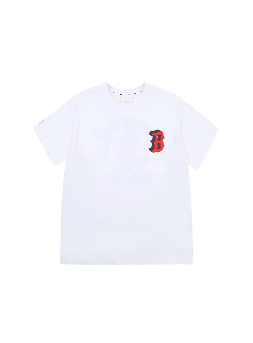 LIKE Popcorn Overfit Short Sleeve T-shirt Boston Red Sox - 31TSP1131-43W