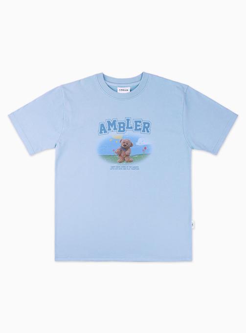 Garden Bear T-shirt (AS830_BLUE)