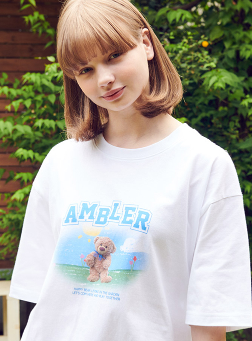Garden Bear T-shirt (AS830_WHITE)