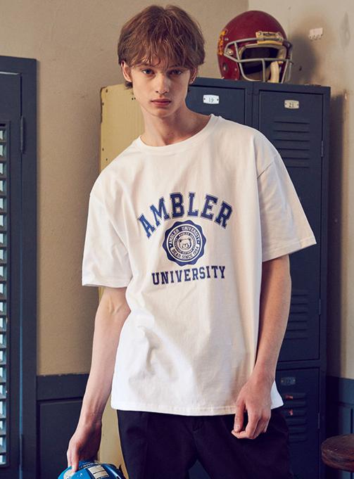 Bear Mark T-shirt (AS839_WHITE)