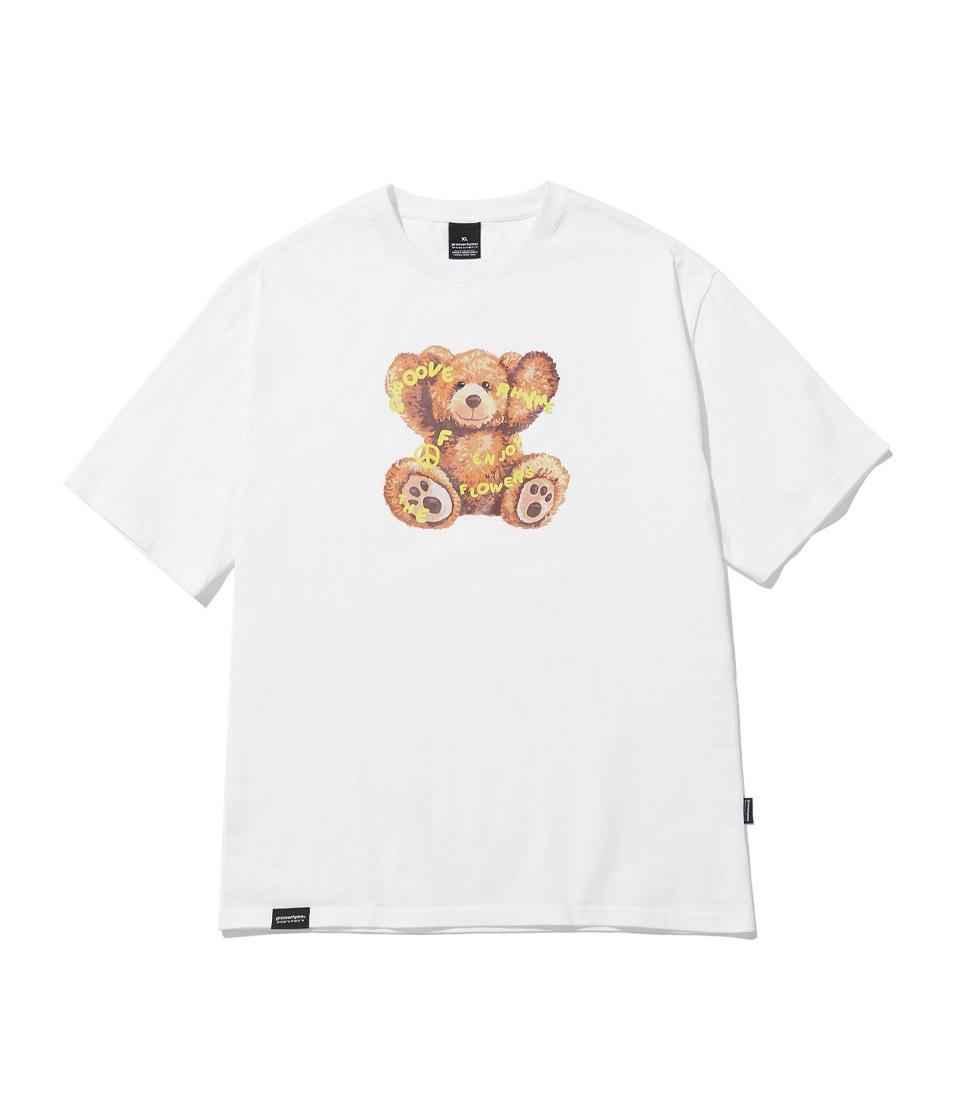NOMAD BEAR T-SHIRTS(WHITE) [LRPMCTA426MWHA]