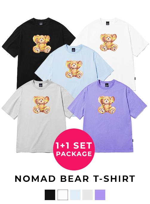 (1+1) Nomad Bear T-shirt (5 Color)