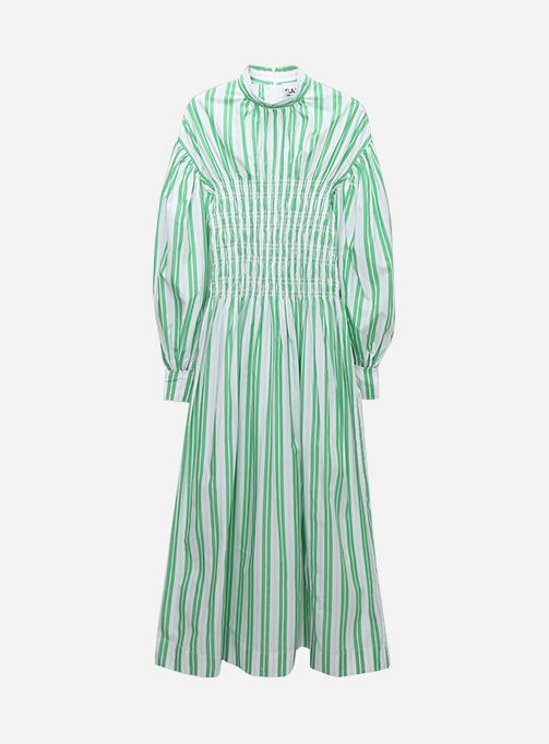 Stripe Cotton Smock Dress (F5741 801)