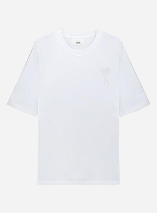 Chain Stitch Tone-on-tone Heart Logo T-shirt (A21HJ128 726 100)