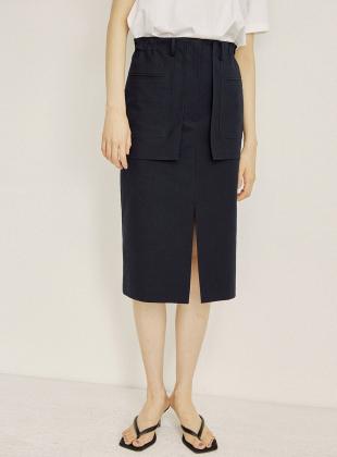 Pocket appliqué skirt