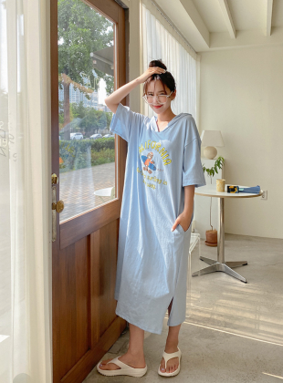 Defdin Bear Hooded Long Dress