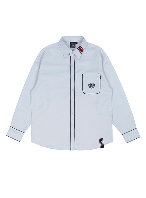 SUNDAY SYNDROME PIPING SHIRT_SKY BLUE