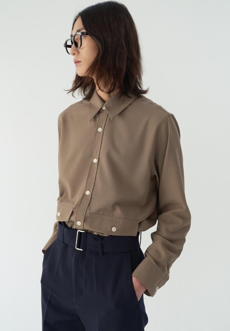 Reconnect Formal Lab Shirtket_Brown
