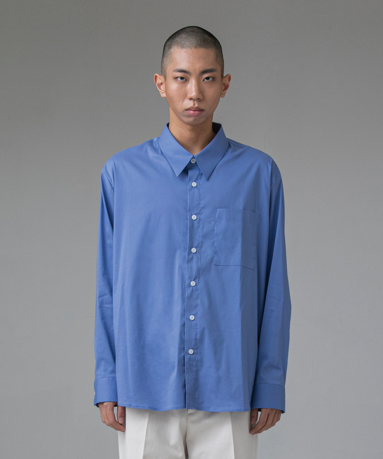 Newtro Easy Slouch Shirts(Blue)
