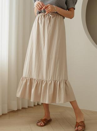 Deming cool touch shirring banding skirt