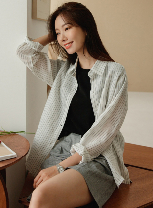 Naming Linen 100% Striped Shirt