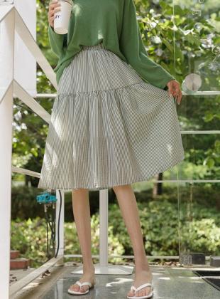 Ocean Stripe Banding Skirt