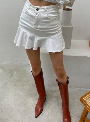 Day frill mini skirt [Pants lining]