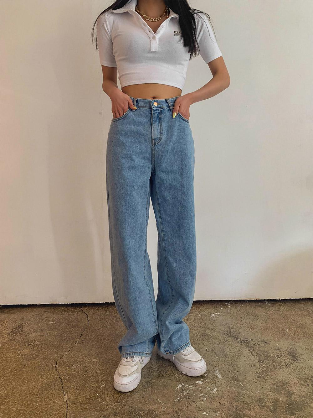 Low-rise Denim Pants