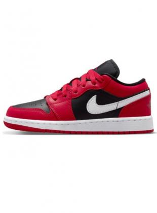 GS Air Jordan 1 Low Berry Red Black / White