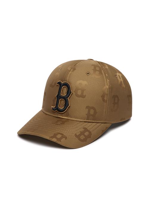 Monogram Nylon Jacquard Structure Ball Cap Boston Red Sox (3ACPM021N-43BGD)