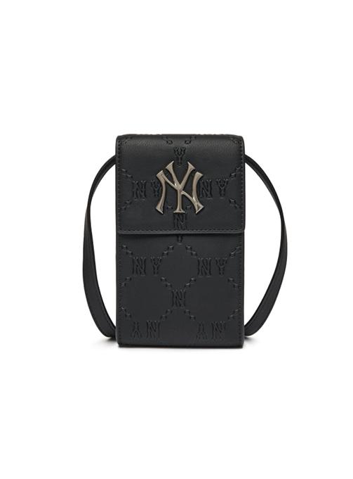 Monogram Diamond Emboss Cell Phone Cross Bag New York Yankees (3ACRH041N-50BKS)