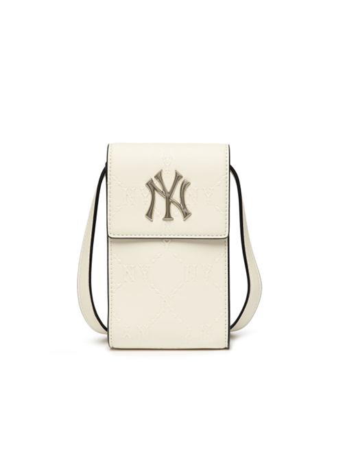 Monogram Diamond Emboss Cell Phone Cross Bag New York Yankees (3ACRH041N-50CRS)