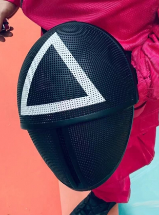 Squid Game Soldiers TRIANGLE mask (NO Slide type)