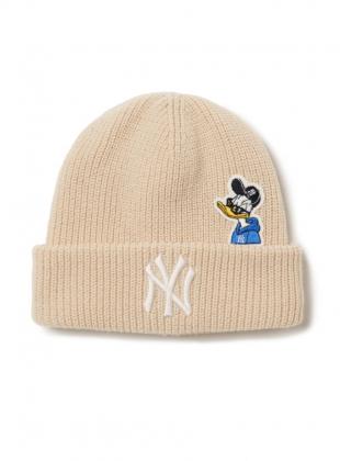 MLB x Disney Donald Duck Mid Beanie NY (3ABND0116-50BGL)